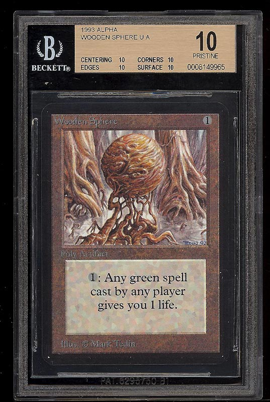 PRISTINE BGS 10 MTG ALPHA WOODEN SPHERE  ROCKETS TO $3555!!!